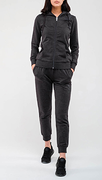 Серый спортивный костюм Ea7 Emporio Armani из хлопка, фото