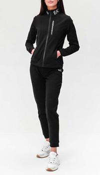 Черный спортивный костюм Ea7 Emporio Armani с лого, фото
