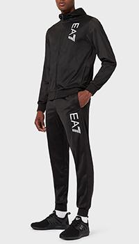 Спортивный костюм Ea7 Emporio Armani в черном цвете, фото