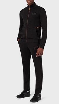 Спортивный костюм Ea7 Emporio Armani с оранжевыми деталями, фото