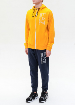 Спортивный костюм Ea7 Emporio Armani с желтой кофтой, фото