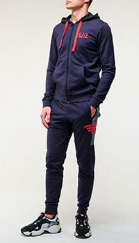 Спортивный костюм Ea7 Emporio Armani с логотипом на спине, фото