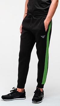 Спортивные брюки Emporio Armani с яркими лампасами, фото