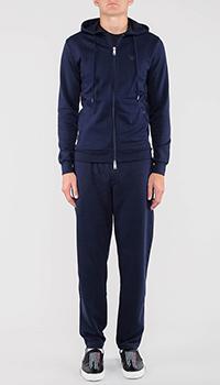 Спортивный костюм Emporio Armani синий с капюшоном, фото