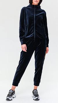 Велюровый костюм Emporio Armani синего цвета, фото