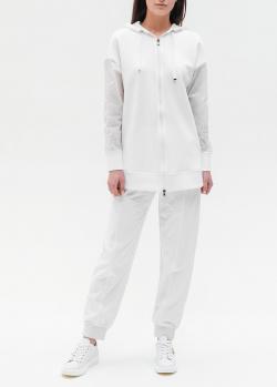 Белый спортивный костюм Emporio Armani с прозрачными рукавами, фото