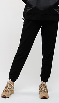 Черные брюки Ermanno Ermanno Scervino с кружевом, фото