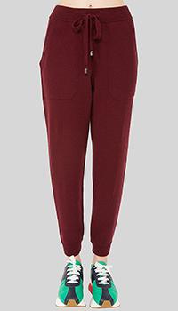 Кашемировые брюки MRZ красные укороченные, фото