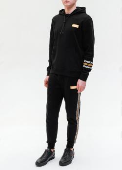Черный спортивный костюм Hugo Boss с принтом, фото