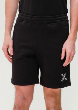 Черные спортивные шорты Kenzo с логотипом, фото