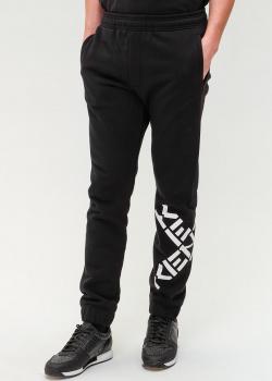 Черные спортивные штаны Kenzo с логотипом на штанине, фото