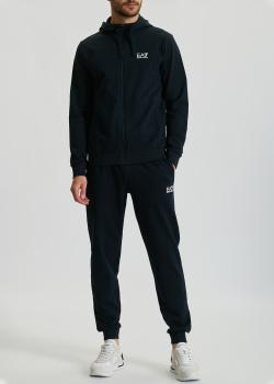 Мужской спортивный костюм EA7 Emporio Armani темно-синего цвета, фото