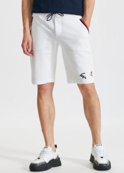 Хлопковые шорты Paul&Shark белого цвета, фото