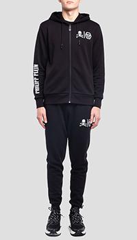 Черный спортивный костюм Philipp Plein с вышивкой-лого, фото
