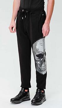 Спортивные брюки Philipp Plein с рисунком черепа, фото