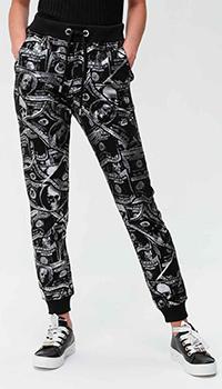 Спортивные брюки Philipp Plein черного цвета с принтом, фото