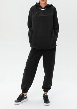 Черный костюм Philipp Plein с металлическим декором, фото