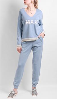 Голубой спортивный костюм Max&Moi из кашемира, фото