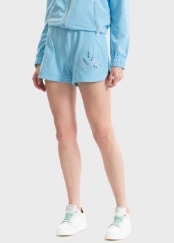 Голубые шорты Liu Jo с вышивкой, фото