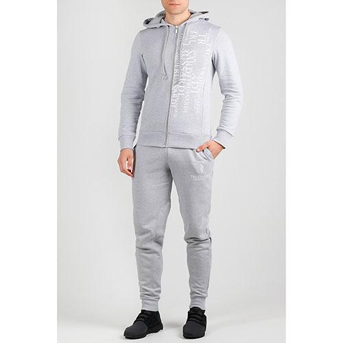 Серый спортивный костюм Trussardi Jeans с надписями, фото