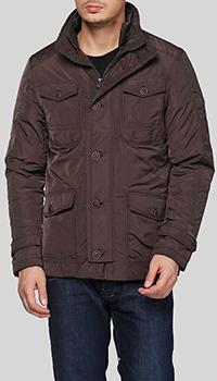 Коричневая куртка Trussardi Collection с воротником-стойкой, фото