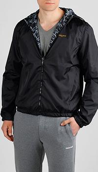 Черная ветровка Roberto Cavalli двухсторонняя, фото