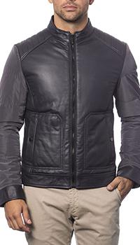 Куртка Verri из кожи и текстиля, фото