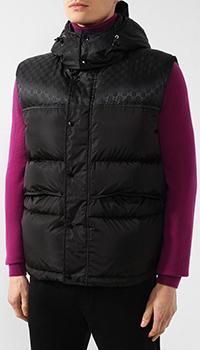 Пуховая жилетка Gucci со съемным капюшоном, фото