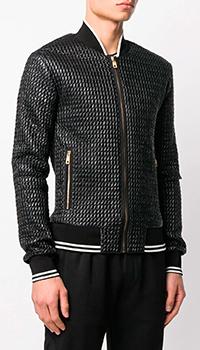 Стеганый бомбер Dolce&Gabbana черного цвета, фото