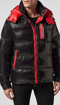Куртка Philipp Plein с красными вставками, фото