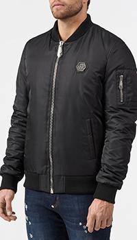 Куртка Philipp Plein черного цвета, фото
