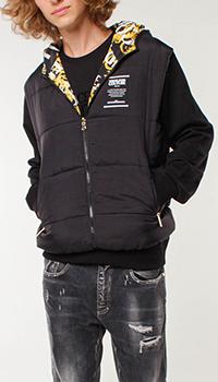 Двусторонний жилет Versace Jeans Couture с капюшоном, фото