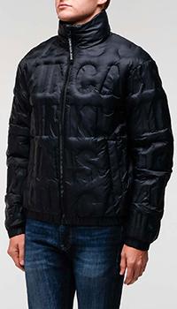 Черная куртка Calvin Klein с тисненым логотипом, фото