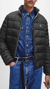 Короткий пуховик Calvin Klein черного цвета, фото