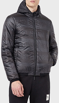 Двусторонняя куртка Emporio Armani с капюшоном, фото