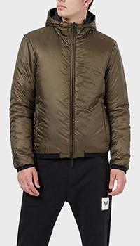 Двусторонняя куртка Emporio Armani с принтом на спине, фото