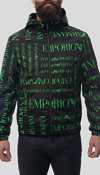 Двусторонняя куртка Emporio Armani черного цвета, фото