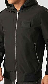 Черная куртка Emporio Armani с сетчатыми вставками, фото