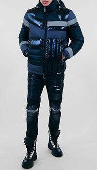 Дутая куртка Frankie Morello с капюшоном , фото