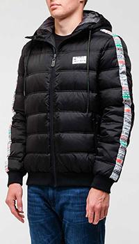 Черная куртка Frankie Morello с цветными лампасами, фото