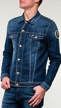 Джинсовая куртка Frankie Morello с потертостями, фото