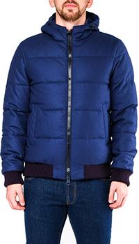 Синяя куртка Herno короткая с капюшоном, фото
