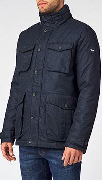 Мужская куртка Harmont&Blaine синего цвета с капюшоном, фото