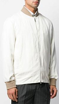Бомбер Brunello Cucinelli в белом цвете, фото