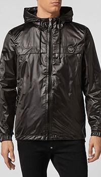 Куртка Philipp Plein с лого на спине черного цвета, фото