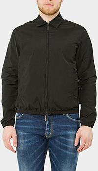 Черная куртка Dsquared2 с принтом на спине, фото