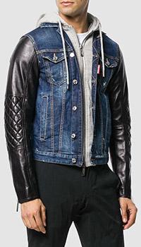 Джинсовая куртка Dsquared2 с капюшоном, фото