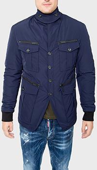Однотонная куртка Dsquared2 синего цвета, фото