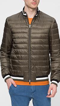 Куртка Herno оливкового цвета на резинке, фото