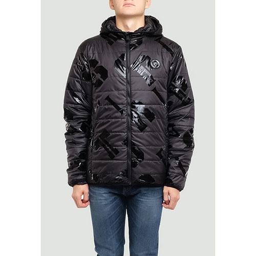 Черная куртка Philipp Plein Plein Sport с принтом, фото